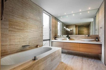 زیباترین سنگ های حمام,انواع سنگ مناسب حمام