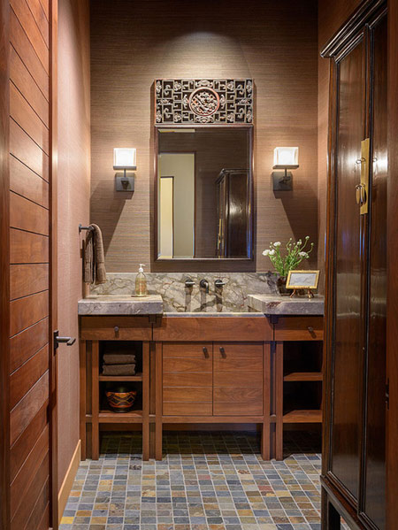 دکوراسیون و چیدمان حمام,انواع سنگ مناسب حمام