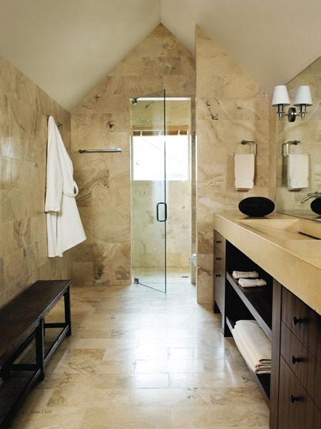 دکوراسیون حمام های مدرن, طراحی حمام با سنگ