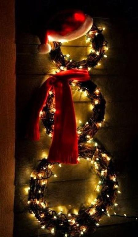 تزیینات خانه برای کریسمس, نورپردازی و تزیینات کریسمس