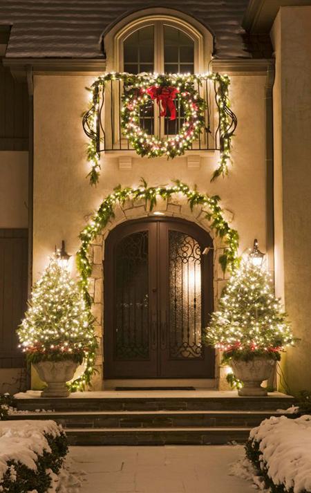 نورپردازی و تزیینات کریسمس, تزیینات کریسمس خانه