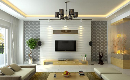 طراحی دیوار پشت تلویزیون, طراحی دیوار ال سی دی