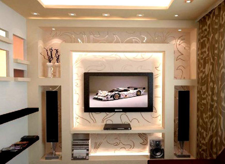 تزیین دیوار پشت تلویزیون, طراحی دیوار تلویزیون ال سی دی