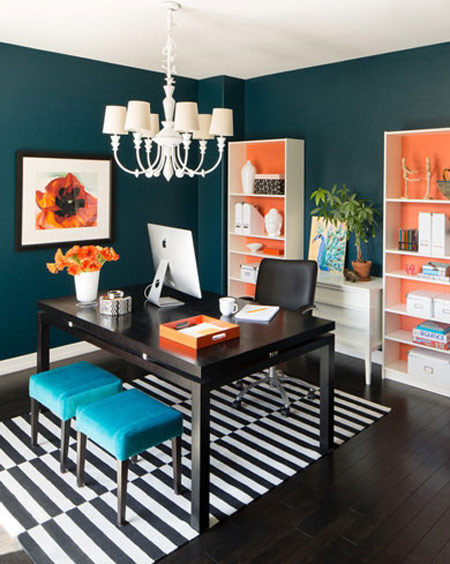 طراحی های زیبای اتاق کار, اتاق کار زیر راه پله ها