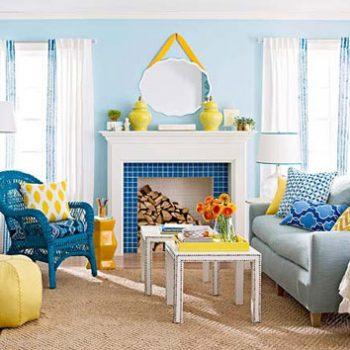 جادوی رنگ آبی در خانه