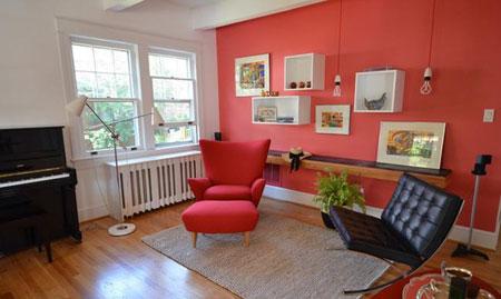 خانه ای سرزنده با رنگ های تابستانی !