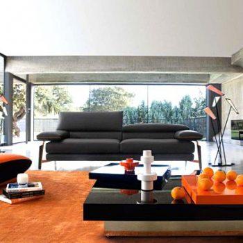 دکوراسیون داخلی پاییزی با رنگ نارنجی