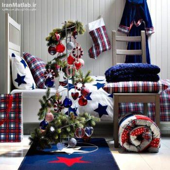 تزیین اتاق خواب برای جشن کریسمس