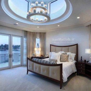 مدل اتاق خواب های زیبا با نورگیر