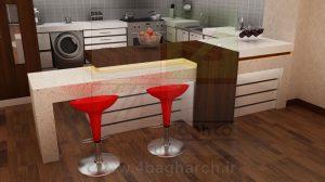 کابینت آشپزخانه,دکوراسیون داخلی,طراحی سه بعدی دکوراسیون