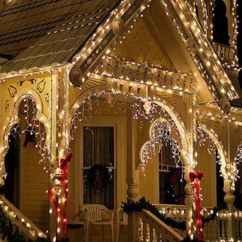 نورپردازی ورودی خانه برای کریسمس