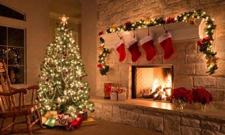 ایده های تزیینات کریسمس,تزیین خانه برای کریسمس