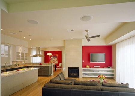 طراحی دیوار تلویزیون, کناف میز تلویزیون