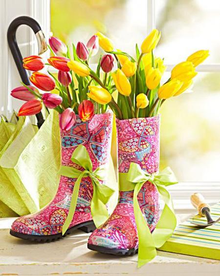 با گل های رنگارنگ یک دکوراسیون بهاری متفاوت بچینید