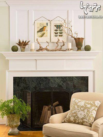 دکور پاییزی خانه با عناصر طبیعی (۲)