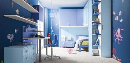 رنگ آبی، مناسب و زیبا برای اتاق خواب
