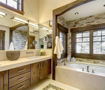 دیوار دکوراتیو با سنگ آنتیک در دکوراسیون داخلی حمام!