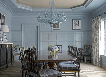 طراحی اتاق غذاخوری, رنگ آبی فیروزه ای در دکوراسیون غذا خوری