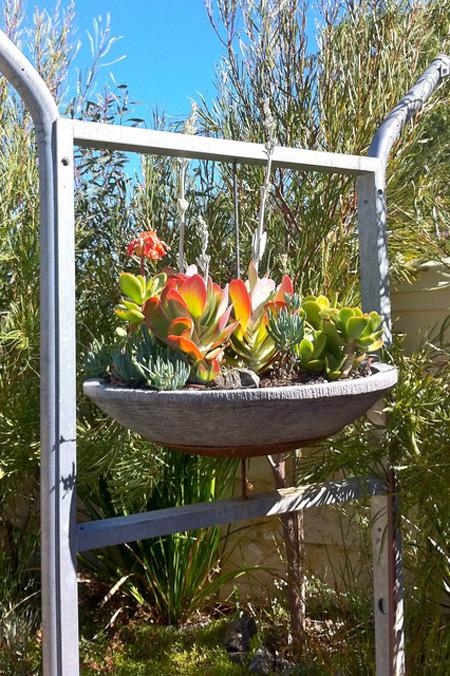 نحوه درست کردن باغچه های آویز,نحوه تزیین گلدان در خانه