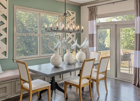 ترکیب رنگ اتاق غذاخوری,انتخاب رنگ برای دکوراسیون اتاق غذاخوری
