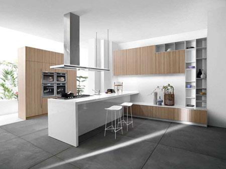 طراحی شیک ترین مدل آشپزخانه,کابینت آشپزخانه به رنگ سفید