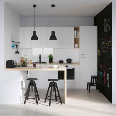 دکوراسیون آشپزخانه سفید,دکوراسیون ساده آشپزخانه