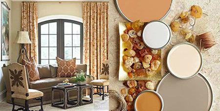 ترکیب رنگی دکوراسیون اتاق نشیمن, اتاق نشیمن رنگی