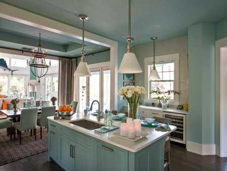 کاربرد رنگ های شاد در آشپزخانه,دکوراسیون آشپزخانه رنگی