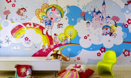 کاغذ دیواری کودک و نوجوان,کاغذ دیواری کودک ایرانی,کاغذ دیواری کودک فانتزی
