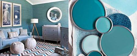 اتاق نشیمن رنگی, رنگ های مناسب اتاق نشیمن