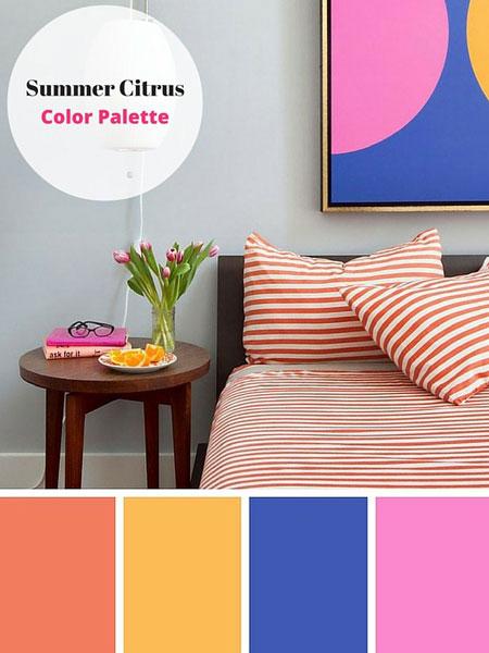 ترکیب رنگ های زیبا مخصوص فصل تابستان