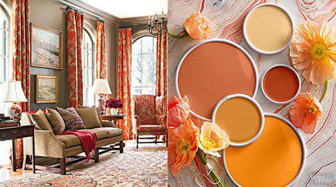 ترکیب رنگ های مناسب اتاق نشیمن,ترکیب رنگ های تابستانی اتاق نشیمن