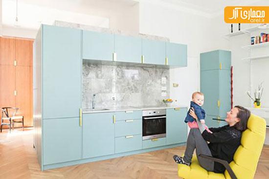 طراحی داخلی ساده و دلنشین یک آپارتمان به سبک ویکتوریایی