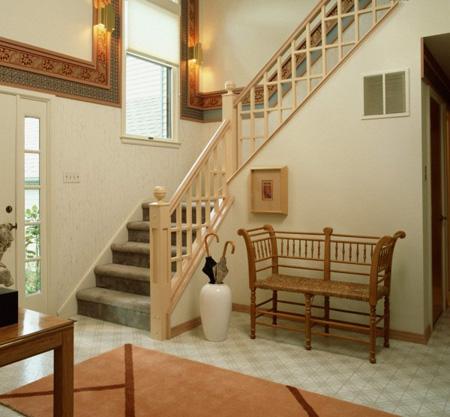 دکوراسیون و طراحی نرده های چوبی راه پله, راه پله های خانه های دوبلکس