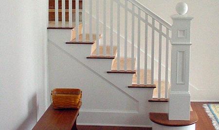 نرده راه پله چوبی در دکوراسیون داخلی