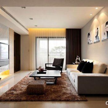چیدمان پذیراییِ مستطیل شکل، در آپارتمان های امروزی