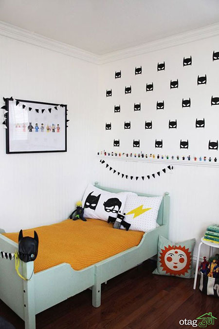 طرح های لوکس اتاق کودک پسرانه بهمراه سرویس کامل تخت و کمد