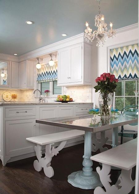 انتخاب پرده های آشپزخانه طرح دار,طرح مناسب پرده آشپزخانه