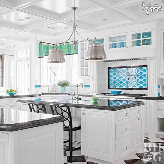 زیبایی دو چندان آشپزخانه با این کاشی ها