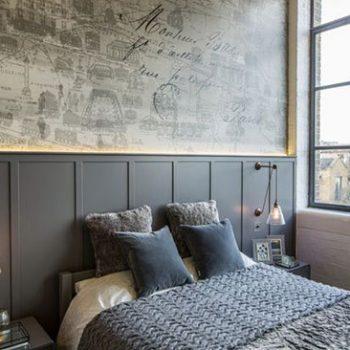 اتاق خوابهای جذاب به رنگ خاکستری و سفید