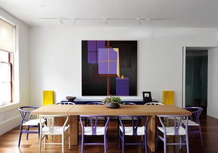 دکوراسیون و چیدمان رنگ بنفش,طراحی داخلی رنگ بنفش