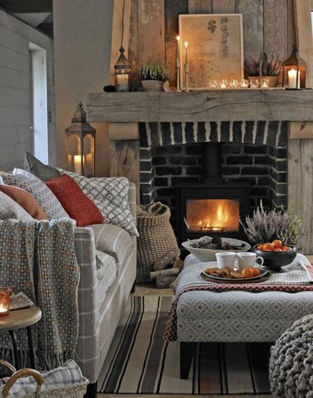 چیدمان زمستانی خانه,چیدمان خانه در زمستان